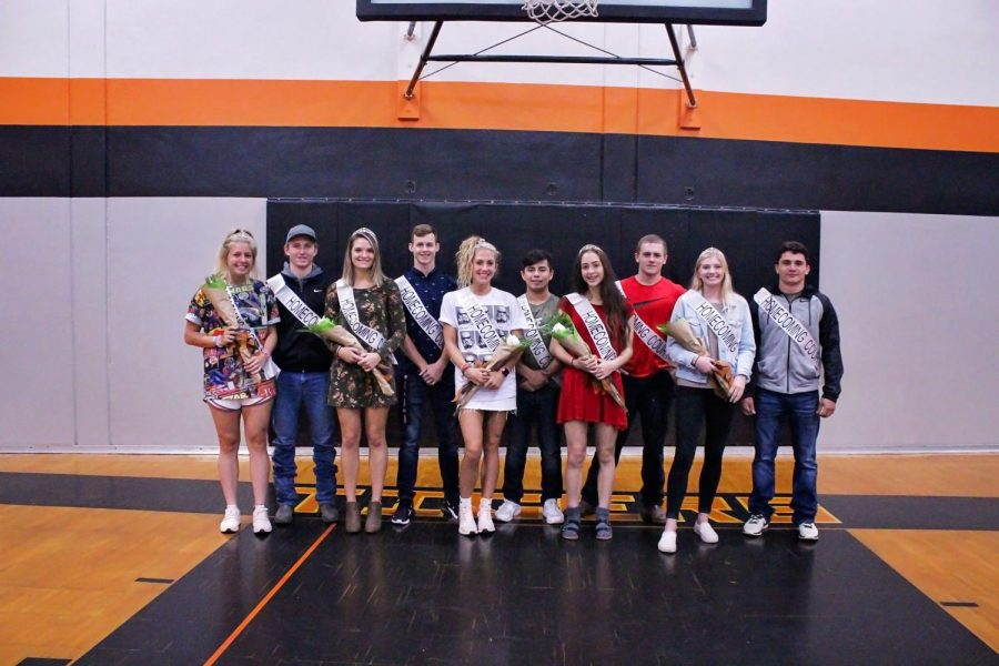 2018 Yamhill Carlton high school homecoming court