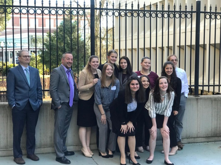 The+YC+Mock+Trial+team+at+regionals%2C+where+they+placed+10th+out+17+teams.+Back%2C+Left+to+right%3A+Rob+Nichols%2C+Matt+Opitz%2C+Emma+Prine%2C+Kate+Gomes%2C+Gabrielle+Chambers%2C+Grace+Ingram%2C+and+Wesley+Brewer.+Front%2C+Left+to+right%3A+Julie+Easton%2C+Angelique+Calhoon%2C+Paula+Jung%2C+Madison+Stryffeler%2C+and+Grace+Armstrong.