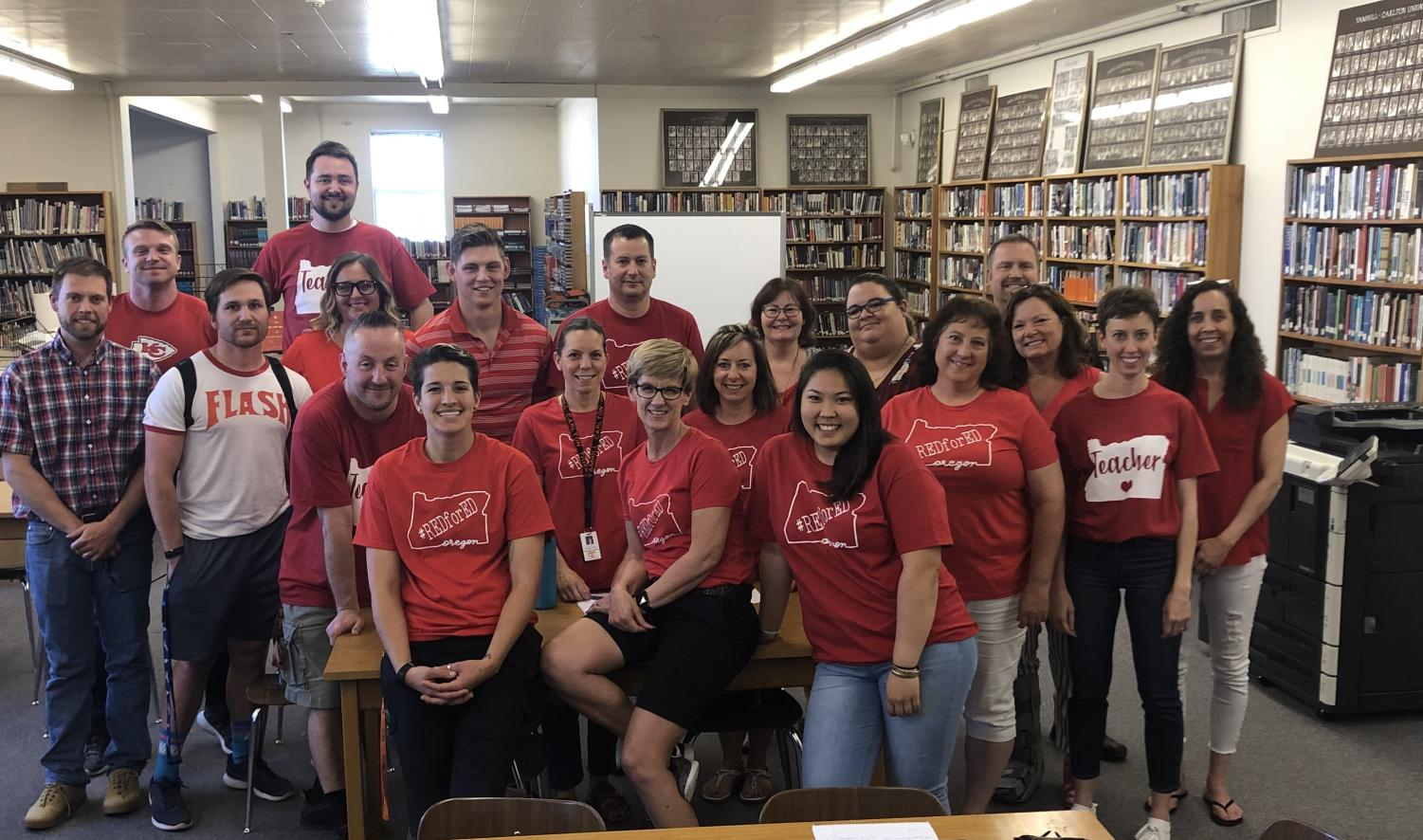 YCHS staff supporting #redfored photo credit to Ms. McKinney