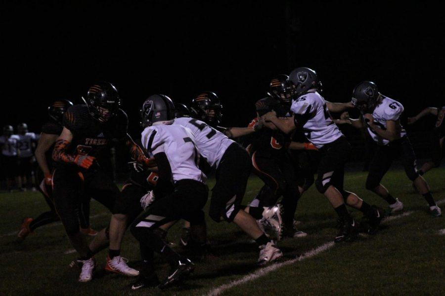 YCHS+Boys+Football+team+holds+the+line+against+Salem+Academy