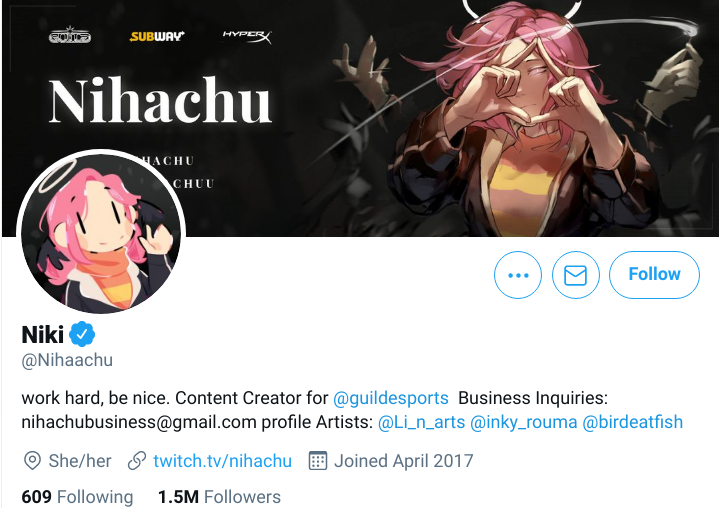 Nihachu is a female streamer that has a lot of female fans and she tries her best to make them feel safe when watching her.